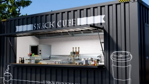 Snack-Cube comptoir ouvert