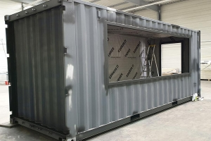 Transformation container aménagé en snack