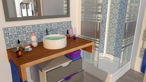 STEELWOOD | Container maritime aménagé en studio | Espace salle de bain