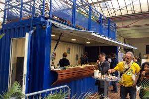 Containerland.fr : transformation de conteneurs maritimes en snack