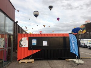 Container aménagé par CONTAINERLAND | MONDIAL AIR BALLONS 2019