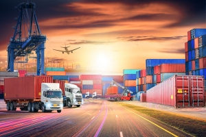 Logistique import export conteneurs maritimes