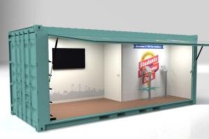 Aménagement Conteneur 20 pieds | Stand pour l'Université de Lyon