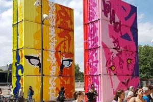 Conteneur événementiel | Street Art Marko 93 | Metz