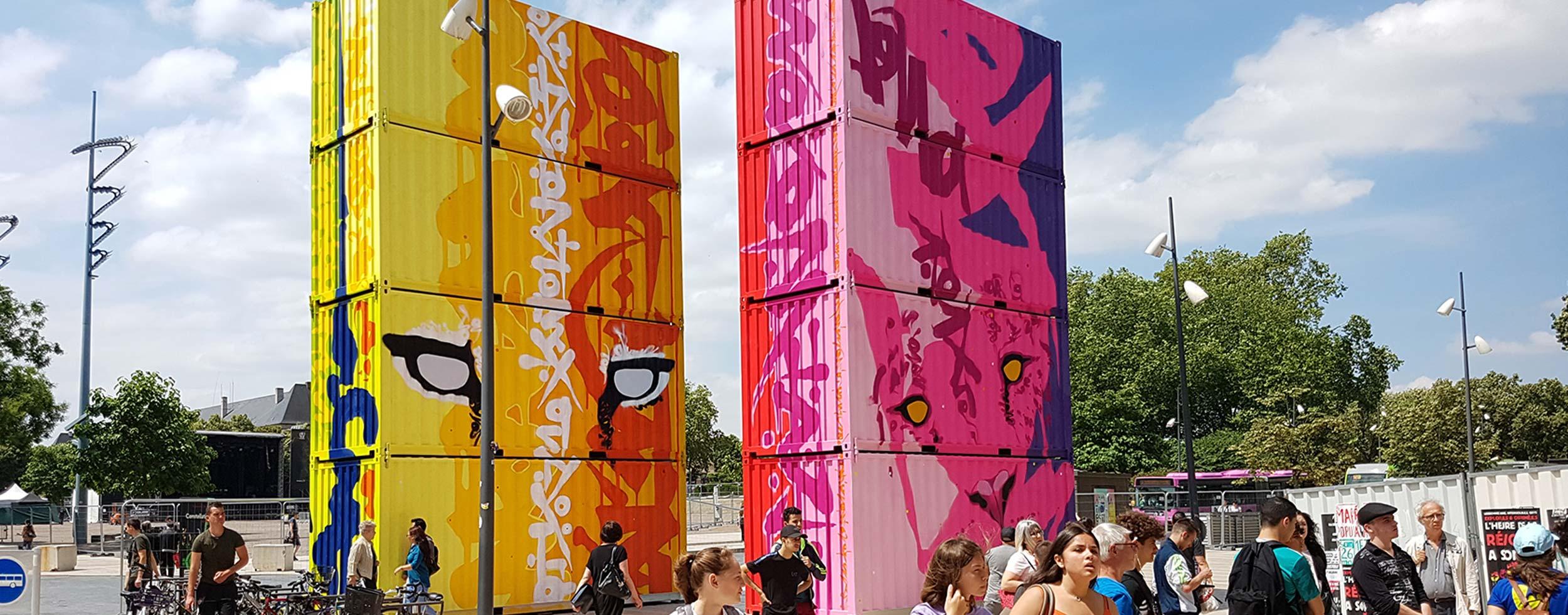 Conteneur événementiel | Street Art | Oeuvre de MARKO 93 à Metz