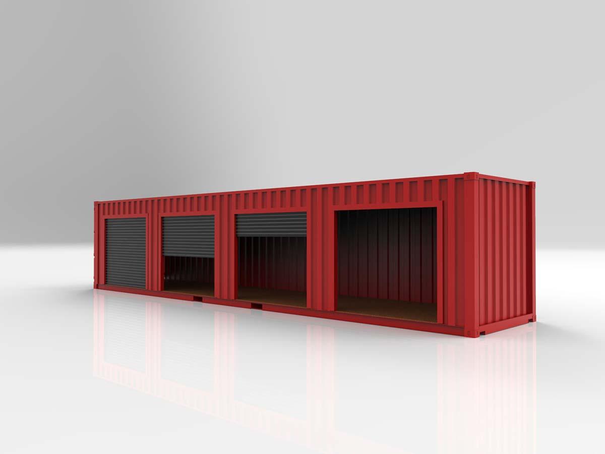 Conteneur maritime garage