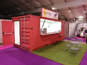 Snack'Cube, container aménagé restaurant, bar, food truck
