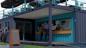 Container maritime aménagé restaurant snack