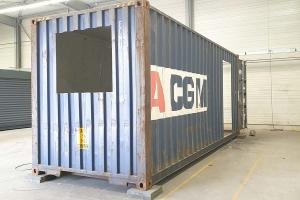 STEELWOOD | Container aménagé en studio