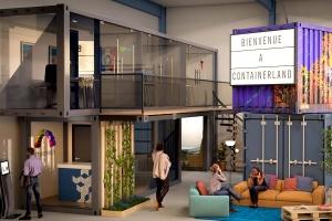 CONTAINERLAND : conteneurs aménagés bureaux | Conteneurs coworking