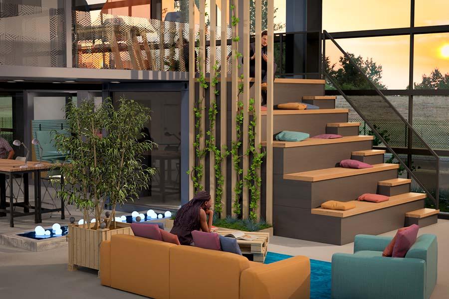 Containerland : espace de conteneurs bureaux, coworking
