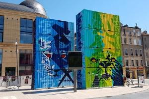 Conteneurs 20 pieds peints par le street artiste MARKO 93