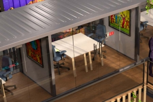 CONTAINERLAND : conteneurs aménagés en bureaux à CIVRIEUX