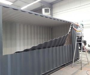 Container SNACK'CUBE sur le site de fabrication