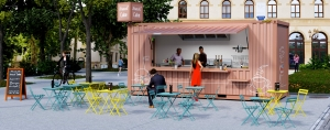 SNACK'CUBE, le conteneur restaurant by CONTAINERLAND