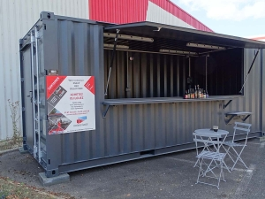 Aménagement container maritime : container bar, restaurant, snack, fabricant food truck
